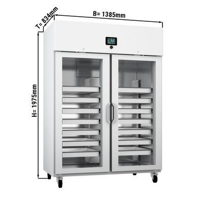 Medizinkühlschrank - 1,38 x 0,83 m - 1300 Liter - mit 2 Glastüren