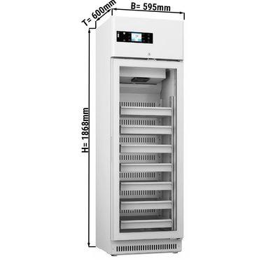 Medizinkühlschrank - 0,59 x 0,6 m - 305 Liter - mit 1 Glastür