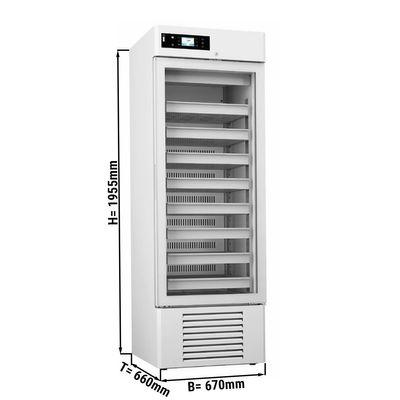 Medizinkühlschrank - 0,67 x 0,66 m - 426 Liter - mit 1 Glastür