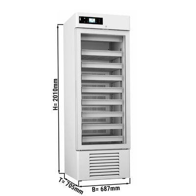 Medizinkühlschrank - 0,68 x 0,70 m - 504 Liter - mit 1 Glastür