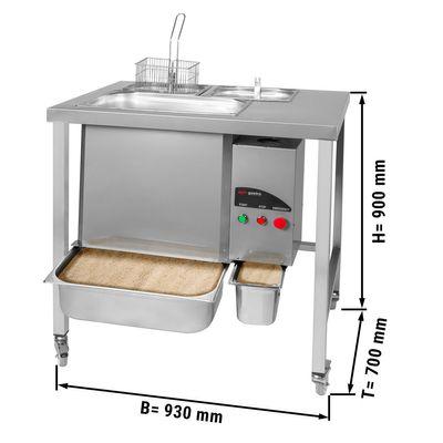 Panierstation für Hähnchen - 5 kg/min