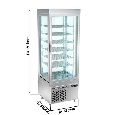Panoramic frozen cabinet with 6 shelf trays