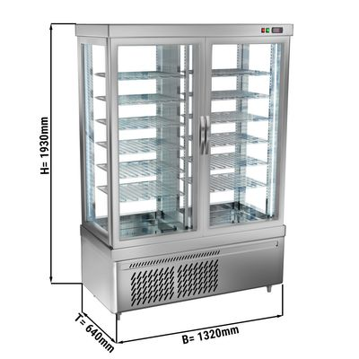 Panoramic frozen cabinet with 12 shelf trays