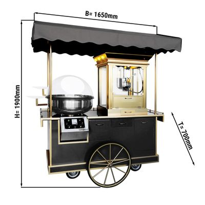 Popcorn / cotton candy trolley incl. lighting