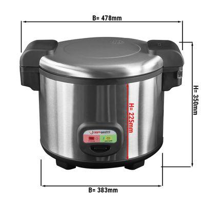 Reiskocher 5,4 Liter | Asiakocher | Dampfgarer