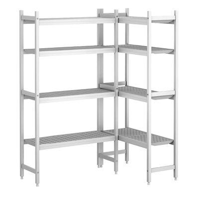 Kit d'étagères aluminium (anodisé) - forme en L - profondeur: 360 mm