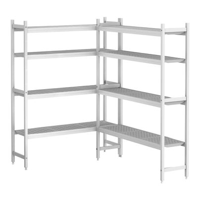 Kit d'étagères aluminium (anodisé) - forme en L à gauche - profondeur: 360 mm