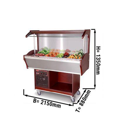 Salatbar 1,5 m (Wandmodell) | Buffettheke | Kaltbuffet