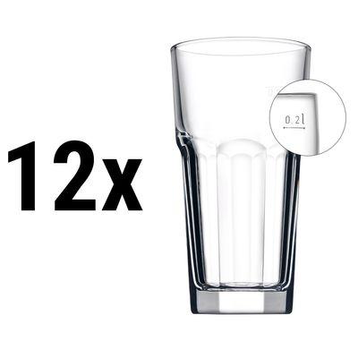 (12 Stück) CASABLANCA - Bierglas - 285 cc - geeicht bei 0,2 Liter