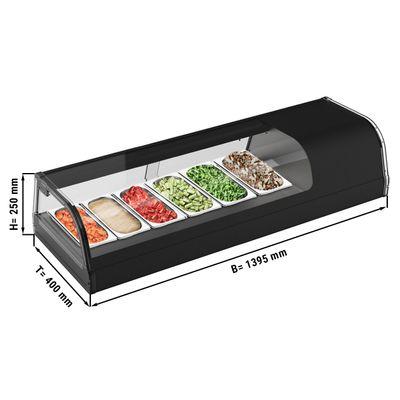 (MUSTER) Sushi-Kühlaufsatzvitrine - 6x GN 1/3