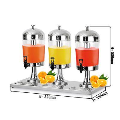 Edelstahl Saftspender - 3x 8 Liter