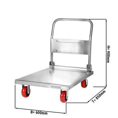 Transportwagen - 0,6 m - mit 1 Abstellfläche