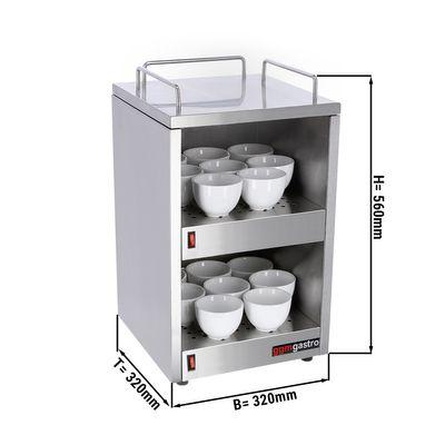 Tassenwärmer - 2 Ablagen - Breite 320 mm