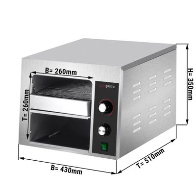 Industrial Toaster with 2 section – 2,2 kW