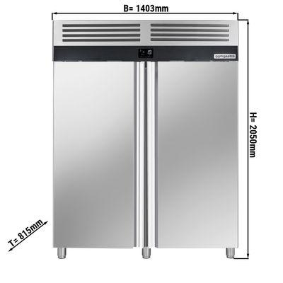 Tiefkühlschrank - 1,4 x 0,81 m - 1400 Liter - mit 2 Türen
