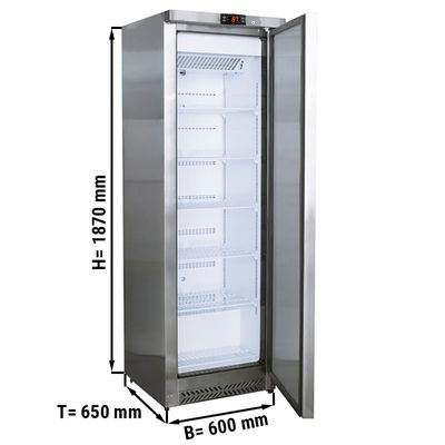 Freezer made of stainless steel - 400 liters - with 1 door