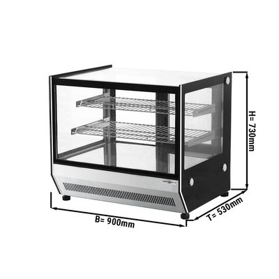 Refrigerated display table - 2 shelves - mirrorfront (LED)