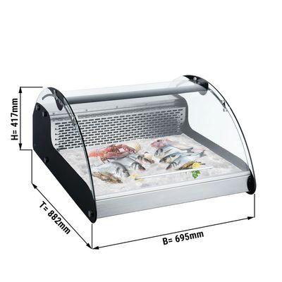 Tischkühlvitrine für Fisch und Fleisch - 0,69 m - 118 Liter