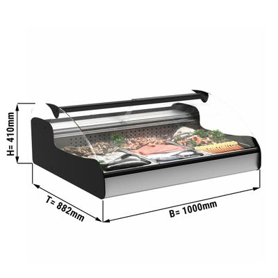 Tischkühlvitrine für Fisch - 1,0 m