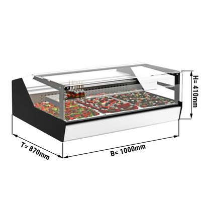 Tischkühlvitrine / Aufsatzvitrine - 1,0 x 0,87 m