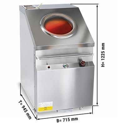 Gas Tandoori oven - 715 x 1225 mm (stainless steel)