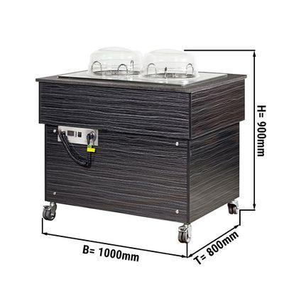 طاولة لابقاء الاطباق دافئة لخدمة 50/2 طبق قياس 24 سم