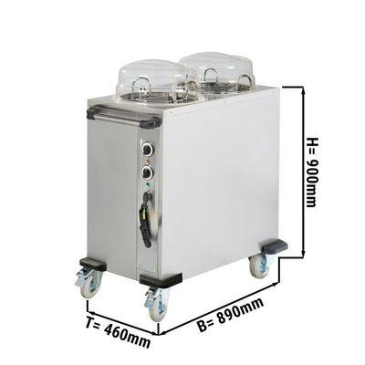 Heated plate dispenser - 2x 50 plates