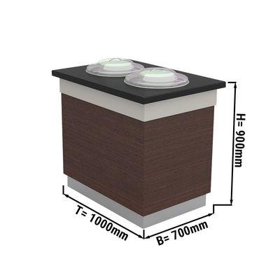 Tellerspender - 0,7 x 1,0 m - beheizt | Salatbar | Buffettheke