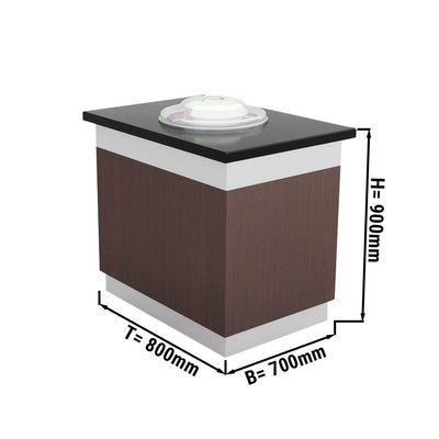 Tellerspender - 0,7 x 0,8 m - beheizt | Salatbar | Buffettheke