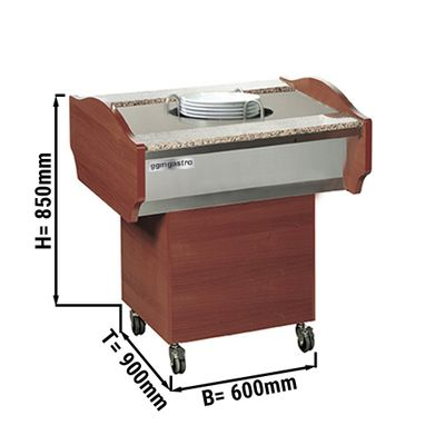 (SALE) Tellerspender Neutral - 50 Teller - 240 mm