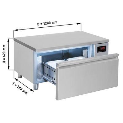 Tiefkühl-Schubladenschrank mit 1 Schublade - 1,2 m - für GN 2/1