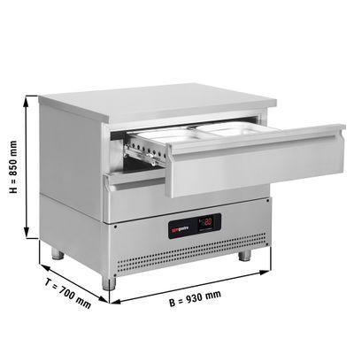 Tiefkühl-Schubladenschrank mit 2 Schubladen - 0,93 m - für GN 2/1