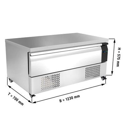 Kühl/Tiefkühl-Schubladen Kombination mit 1 Schublade - 1,23 m - für GN 1/1 - 113 Liter