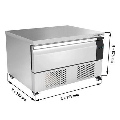 Kühl/Tiefkühl-Schubladen Kombination mit 1 Schublade - 0,9 m - für GN 2/1 - 76 Liter