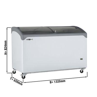 Tiefkühltruhe - 380 Liter - mit Glasschiebetür