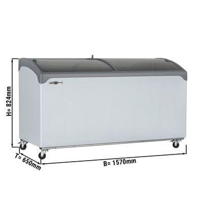 Tiefkühltruhe - 541 Liter (Nettoinhalt) - mit Glasschiebetür