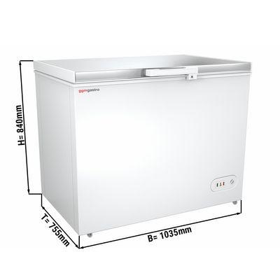 Tiefkühltruhe mit Edelstahldeckel - 272 Liter (Nettoinhalt) - Energieklasse A+