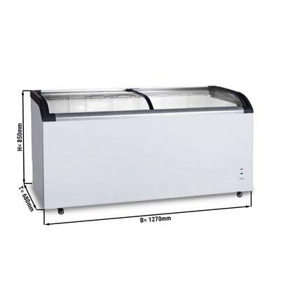 Tiefkühltruhe 420 Liter / Glas