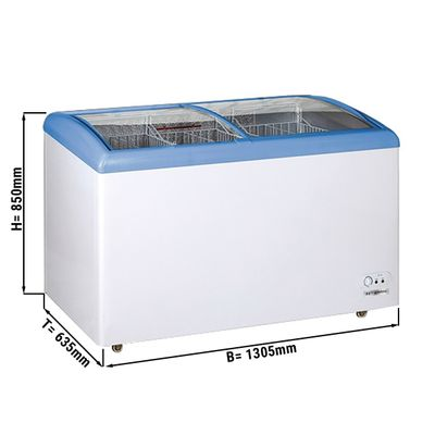 Tiefkühltruhe 338 Liter / Glas