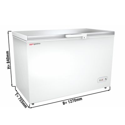 Freezer stainless steel lid / 358 litres / energy class A+
