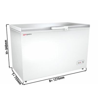 Tiefkühltruhe mit Edelstahldeckel - 358 Liter (Nettoinhalt) - Energieklasse A+