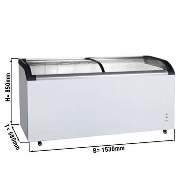 Freezer - 445 litres - with glas sliding lids