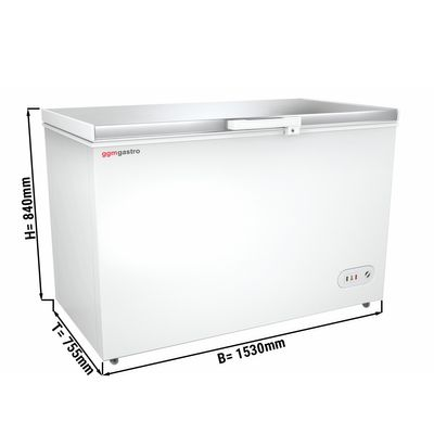 Freezer stainless steel lid / 450 litres / energy class A+