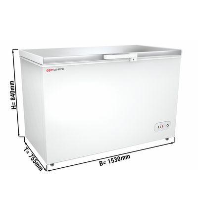 Tiefkühltruhe mit Edelstahldeckel - 450 Liter (Nettoinhalt) - Energieklasse A+
