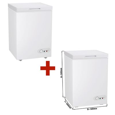 (SET) 2x deep freezer - 97 litres (net capacity) - Energy class A+