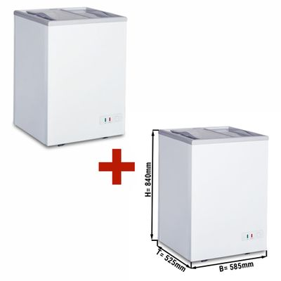 (SET) 2x freezer - 97 litres (net capacity) - Energy class A