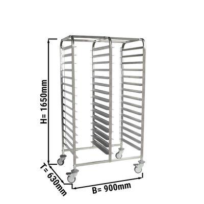 Double tray trolley - EN 60 x 40 cm