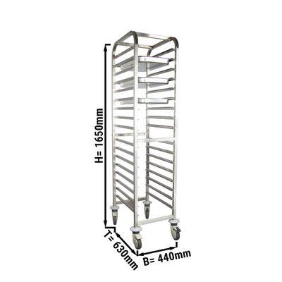 Tray trolley EN 60 x 40 cm
