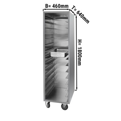 Edelstahl Tablettwagen - für 28x GN 1/2 oder 14x GN 1/1