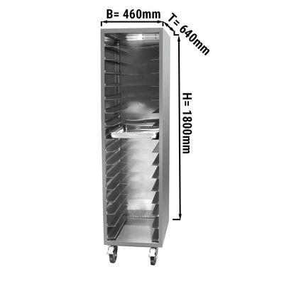 Edelstahl Tablettwagen - für 16x EN 60 x 40 cm